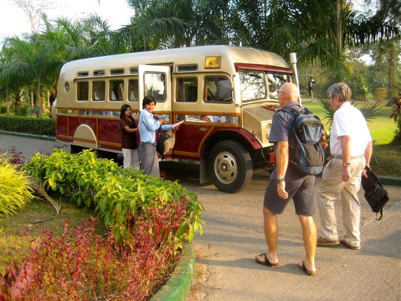 Yangon - our wonderful bus!