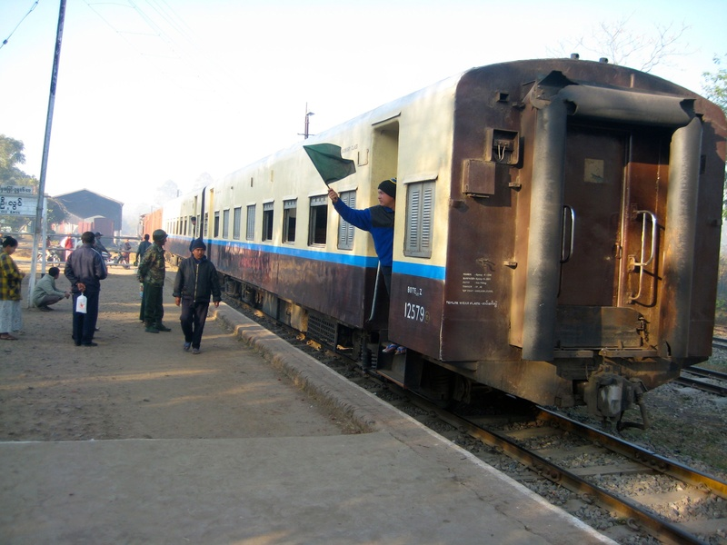 Pyin Oo Lwin - our train to the Goktiek Viaduct