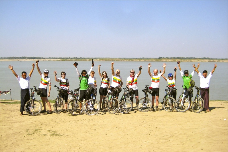 Our finish line on the banks of the Irrawaddy River